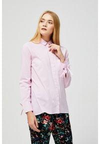 MOODO - Koszula bawełniana. Materiał: bawełna. Długość rękawa: długi rękaw. Długość: długie. Wzór: gładki
