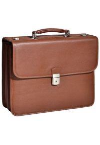 Teczka na laptopa MCKLEIN Ashburn 15.6 cali Brązowy. Kolor: brązowy. Materiał: skóra. Styl: biznesowy, elegancki