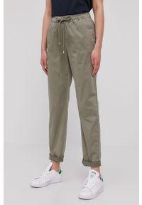 Zielone spodnie materiałowe TOMMY HILFIGER gładkie