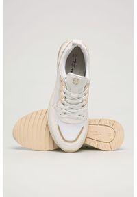 Białe buty sportowe Tamaris na sznurówki, z cholewką