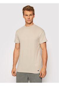 Tigha T-Shirt Delian Logo 106327 Szary Regular Fit. Kolor: szary