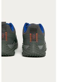 Szare buty sportowe Reebok z cholewką, z okrągłym noskiem