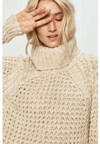 Beżowy sweter Answear Lab długi, z długim rękawem