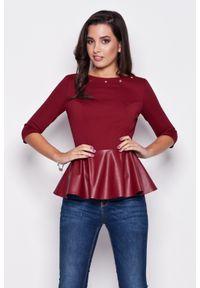 Czerwona bluzka z długim rękawem Katrus