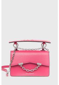 Karl Lagerfeld - Torebka 206W3054. Kolor: różowy. Rodzaj torebki: na ramię