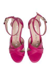 Różowe sandały Oleksy #7