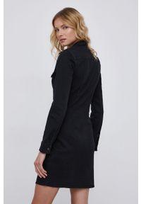 Noisy may - Noisy May - Sukienka jeansowa. Kolor: czarny. Materiał: jeans. Długość rękawa: długi rękaw. Wzór: gładki. Typ sukienki: dopasowane