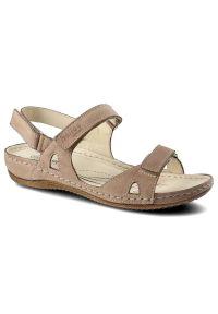 Beżowe sandały Helios