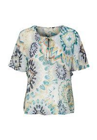 Cream Bluzka Gemma akwamaryna we wzory female niebieski/ze wzorem 36. Kolor: niebieski. Materiał: tkanina. Długość: krótkie. Styl: elegancki