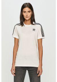 adidas Originals - T-shirt. Okazja: na co dzień. Kolor: biały. Wzór: aplikacja. Styl: casual