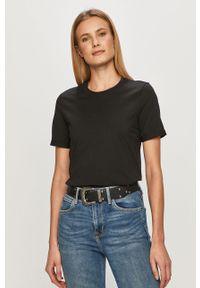 Czarna bluzka Pieces casualowa, na co dzień #5