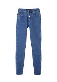 TOP SECRET - Spodnie jeansowe rurki. Kolor: niebieski. Materiał: jeans. Wzór: gładki. Sezon: wiosna, lato #4