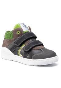 Biomecanics - Sneakersy BIOMECANICS - 201214 S A-Antracita. Kolor: szary. Materiał: skóra, zamsz. Szerokość cholewki: normalna. Sezon: zima, jesień