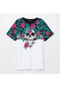 Czarny t-shirt Cropp z nadrukiem