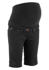 Bermudy ciążowe bonprix czarny. Kolekcja: moda ciążowa. Kolor: czarny