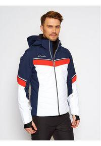 Niebieska kurtka sportowa narciarska