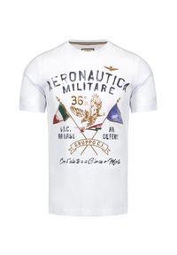 T-shirt Aeronautica Militare klasyczny, z nadrukiem, z krótkim rękawem