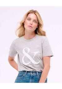 PAPROCKI&BRZOZOWSKI - Szary t-shirt z logo. Kolor: szary. Materiał: bawełna. Wzór: napisy