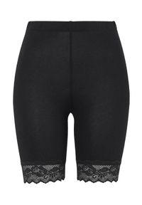 Czarne legginsy Cellbes w koronkowe wzory, na lato