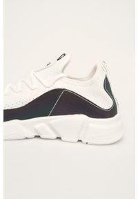 Białe buty sportowe Big-Star na sznurówki, z cholewką