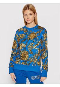 Versace Jeans Couture Bluza 71HAI309 Niebieski Regular Fit. Typ kołnierza: kołnierzyk włoski. Kolor: niebieski