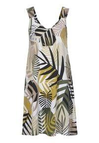 Cellbes Dżersejowa sukienka ze wzorem biały we wzory female biały/ze wzorem 50/52. Kolor: biały. Materiał: jersey. Długość rękawa: na ramiączkach. Sezon: lato