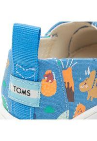Toms - Półbuty TOMS - Alpargata 10016438 Azure Blue Glow. Okazja: na spacer. Zapięcie: rzepy. Kolor: niebieski. Materiał: materiał. Szerokość cholewki: normalna