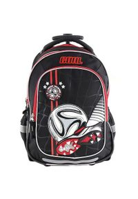 Brązowy plecak Target w kolorowe wzory