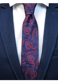 Niebieski krawat paisley
