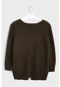 Brązowy sweter Mayoral gładki, na co dzień