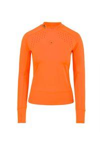 Bluza Adidas by Stella McCartney krótka, z golfem, z długim rękawem