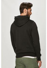 Czarna bluza nierozpinana Calvin Klein Jeans casualowa, na co dzień, z kapturem