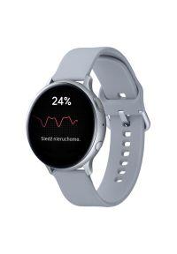 Srebrny zegarek SAMSUNG sportowy, smartwatch