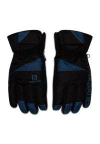 Czarne rękawiczki sportowe salomon narciarskie