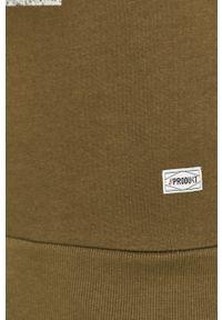 Oliwkowa bluza nierozpinana PRODUKT by Jack & Jones casualowa, z nadrukiem