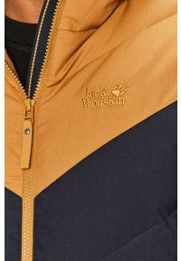 Pomarańczowa kurtka Jack Wolfskin z kapturem, na co dzień, casualowa
