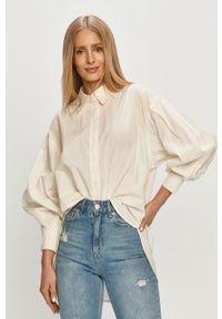 Biała koszula Vero Moda długa, gładkie