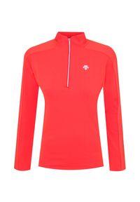 Sweter Descente z golfem, krótki, z nadrukiem