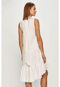 Biała sukienka Red Valentino na co dzień, bez rękawów, mini