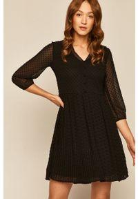 Czarna sukienka medicine rozkloszowana, mini