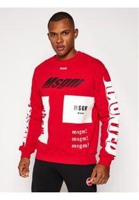 MSGM Bluza 2940MM205 207599 Czerwony Regular Fit. Kolor: czerwony