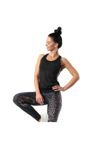 FJ! - Top Cheetah. Materiał: włókno, dzianina, lycra, poliester. Wzór: ze splotem, nadruk. Sport: joga i pilates, fitness, bieganie