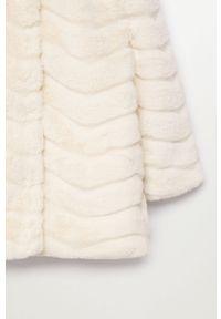 Biały płaszcz Mango Kids na co dzień, casualowy, bez kaptura