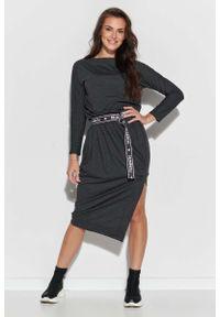 Szara sukienka Makadamia asymetryczna