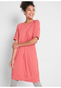 Czerwona sukienka bonprix z krótkim rękawem