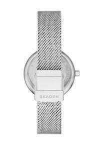 Skagen - Zegarek SKW2956. Kolor: srebrny. Materiał: materiał