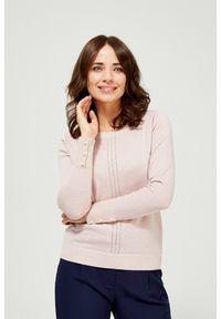 Sweter MOODO klasyczny, długi, gładki