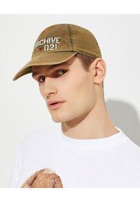 FAY - Zielona czapka z logo. Kolor: zielony. Materiał: bawełna. Wzór: napisy