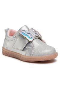 Nelli Blu - Sneakersy NELLI BLU - CM200616-22 Silver. Zapięcie: rzepy. Kolor: srebrny. Materiał: skóra ekologiczna, materiał. Szerokość cholewki: normalna. Wzór: aplikacja