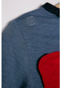 Niebieska koszulka z długim rękawem GAP na co dzień, z nadrukiem, casualowa